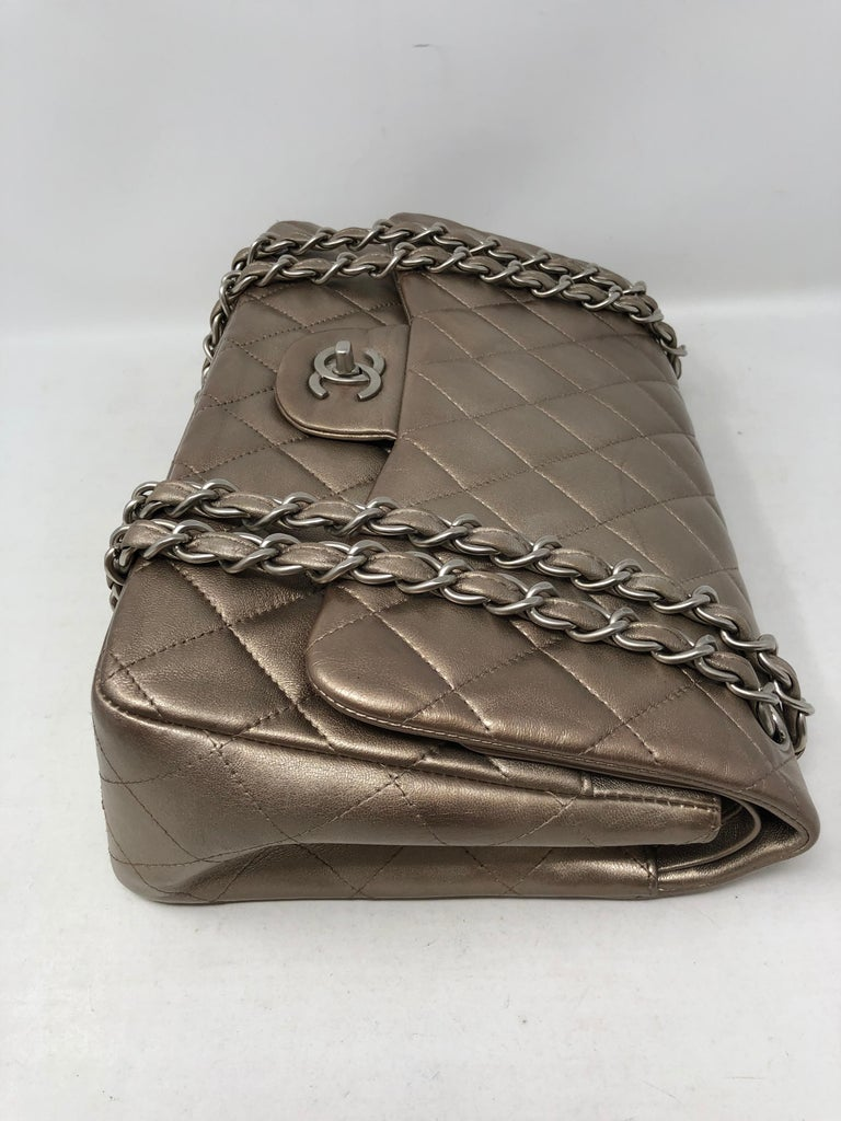 Chanel Jumbo Bronze Metallic For Sale 2