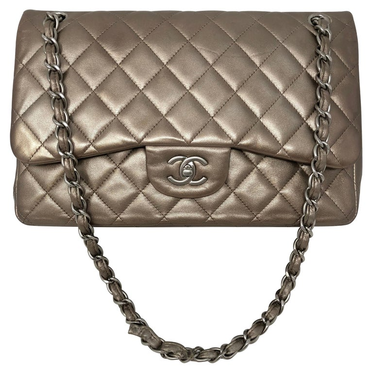 Chanel Jumbo Bronze Metallic For Sale