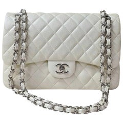Chanel Jumbo Double flap bag Caviar Ivory SHW