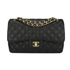 Chanel Jumbo Double Flap Black Lambskin with Gold Hardware, 2015