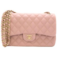 Chanel Jumbo Flap Bag in Blush Pink Lambskin 30cm