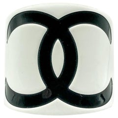 Chanel Jumbo Monochrome CC Logo Resin Cuff 2006
