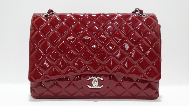 Women's or Men's Chanel Jumbo Patent Double Flap For Sale