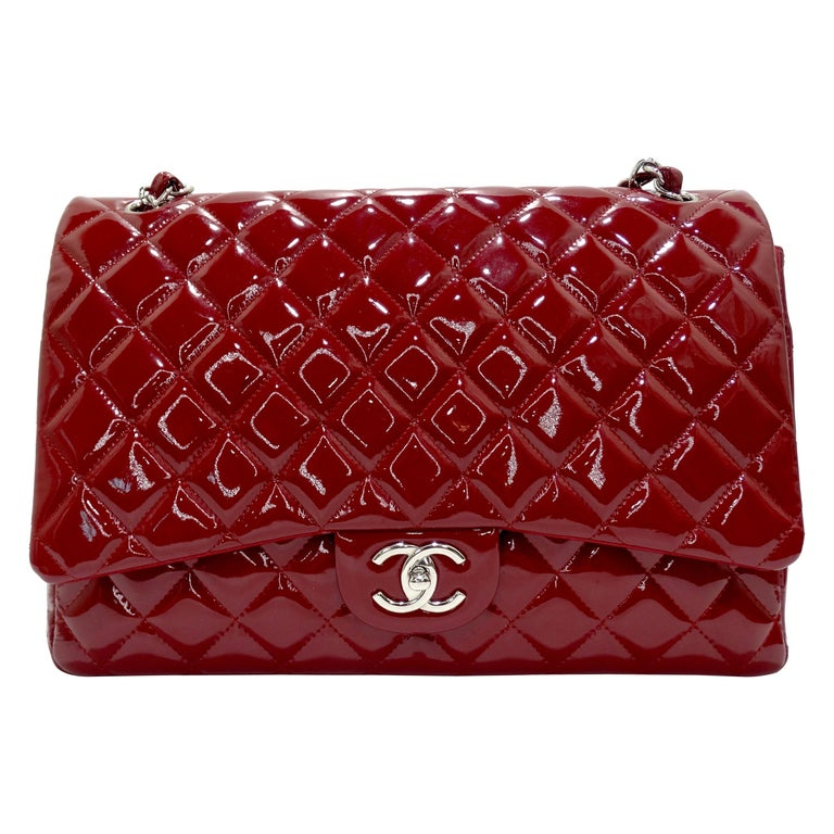 Chanel Jumbo Patent Double Flap For Sale