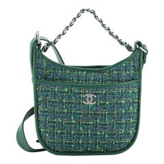 Chanel Jungle Stroll Hobo Quilted Tweed with Leather Small