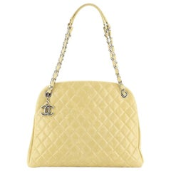 Chanel Just Mademoiselle Bag Quilted Aged Calfskin Large