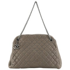 Chanel Just Mademoiselle Bag Quilted Caviar Large