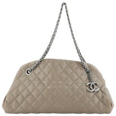 Chanel Just Mademoiselle Bag Quilted Caviar Medium