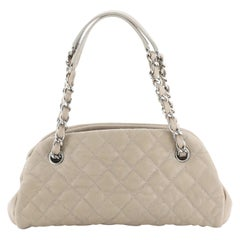 Chanel Just Mademoiselle Bag Quilted Caviar Small