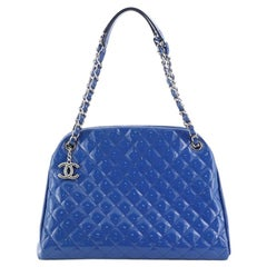 Chanel Just Mademoiselle Bag Quilted Patent Large