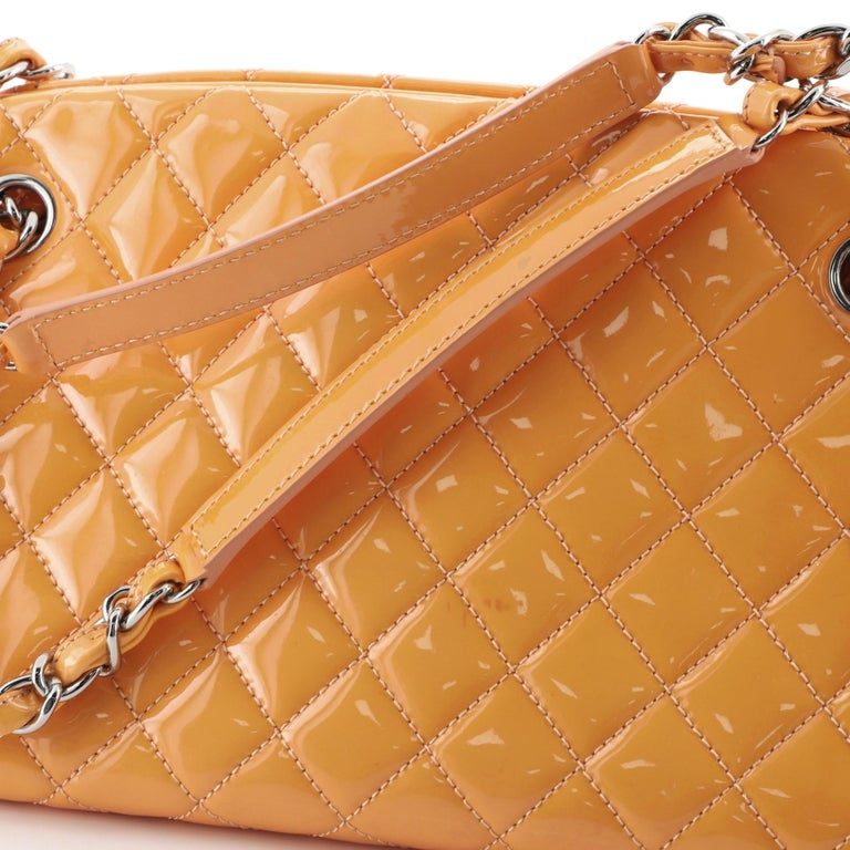 Chanel Just Mademoiselle Bag Quilted Patent Medium For Sale 5