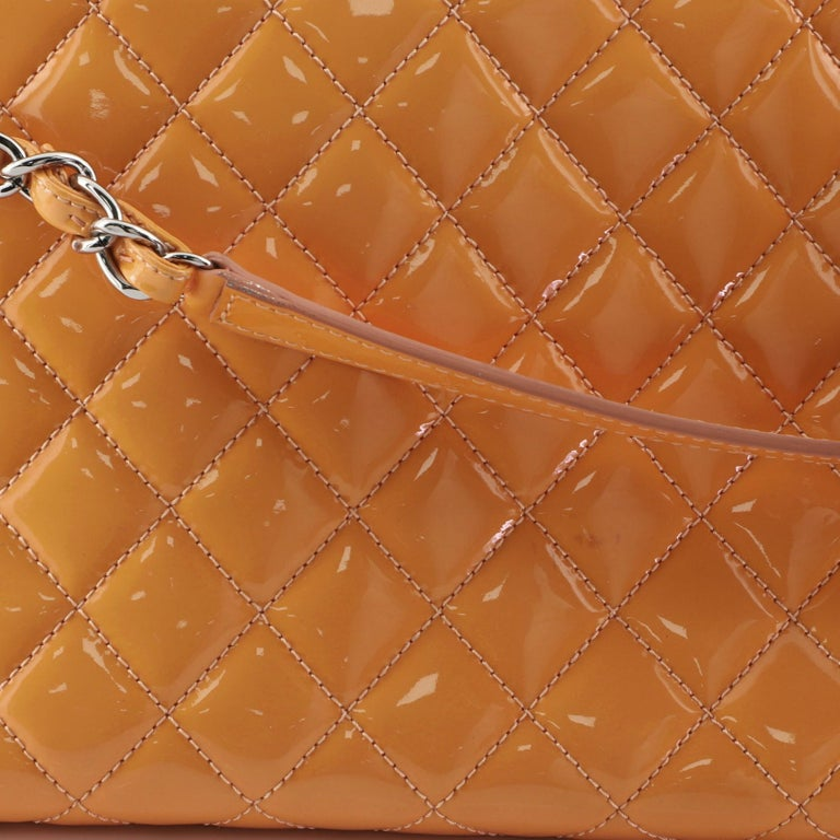Chanel Just Mademoiselle Bag Quilted Patent Medium For Sale 7