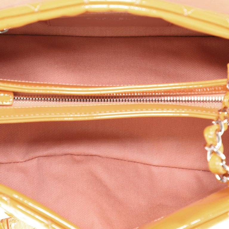 Chanel Just Mademoiselle Bag Quilted Patent Medium For Sale 8
