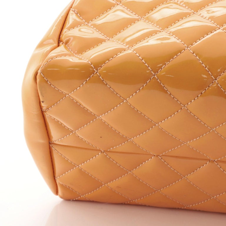 Chanel Just Mademoiselle Bag Quilted Patent Medium For Sale 1