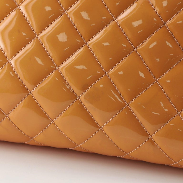 Chanel Just Mademoiselle Bag Quilted Patent Medium For Sale 2