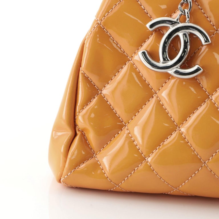 Chanel Just Mademoiselle Bag Quilted Patent Medium For Sale 3