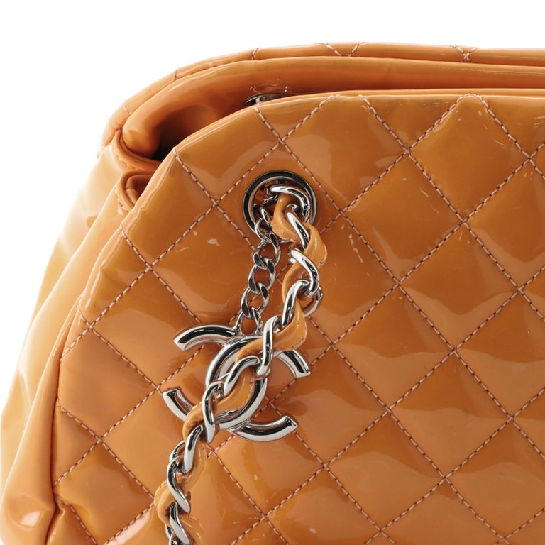 Chanel Just Mademoiselle Bag Quilted Patent Medium For Sale 4