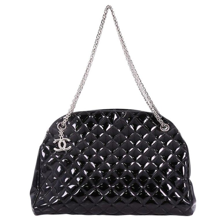 502d8fbc76 Chanel Just Mademoiselle Handbag Quilted Patent Large For Sale at ...