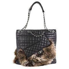 Chanel Karl's Fantasy Cabas Tote Fur and Quilted Leather