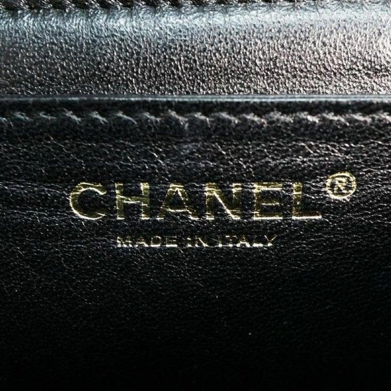 CHANEL Kelly type matelasse Womens handbag black x gold hardware For Sale 6