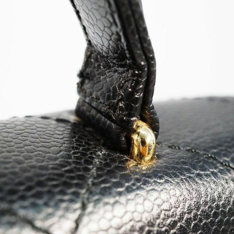 CHANEL Kelly type matelasse Womens handbag black x gold hardware For Sale 7