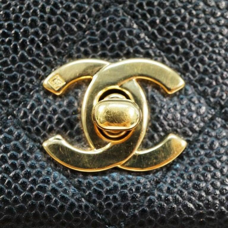 CHANEL Kelly type matelasse Womens handbag black x gold hardware For Sale 8