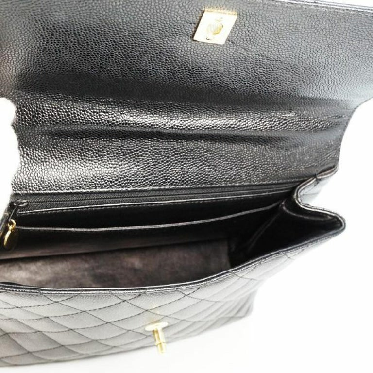CHANEL Kelly type matelasse Womens handbag black x gold hardware For Sale 3