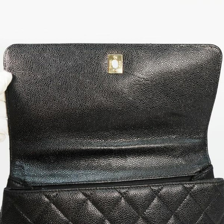 CHANEL Kelly type matelasse Womens handbag black x gold hardware For Sale 4
