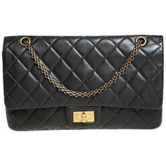Chanel Khaki Brown Quilted Leather Reissue 227 Flap Bag