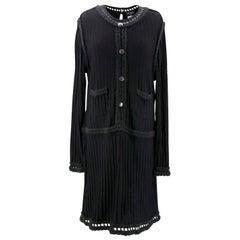 Chanel Knit Black Dress US 12