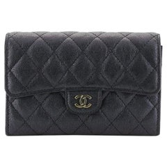 Chanel L-Flap Wallet Quilted Caviar Compact