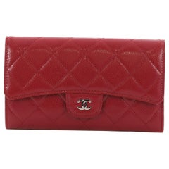 Chanel L-Flap Wallet Quilted Caviar Long