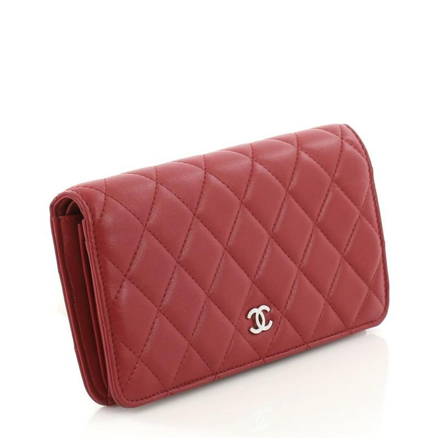 e476cfc16a12b0 Chanel L-Yen Wallet Quilted Lambskin Long at 1stdibs