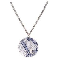 Chanel Lace CC Resin Pendant Necklace