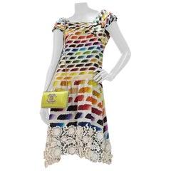 Chanel Lace Rainbow S/S 2014 Dress