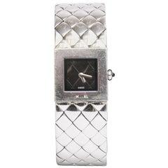 Chanel Ladies Watch, Quilted In Quartz Steel