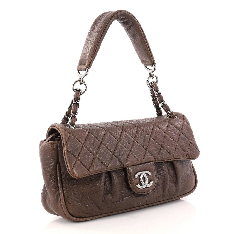 9b10f100e11c3f Chanel Lady Braid Chain Quilted Distressed Lambskin Medium Flap Bag at  1stdibs