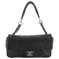 Chanel Lady Braid Chain Flap Bag Quilted Distressed Lambskin Medium