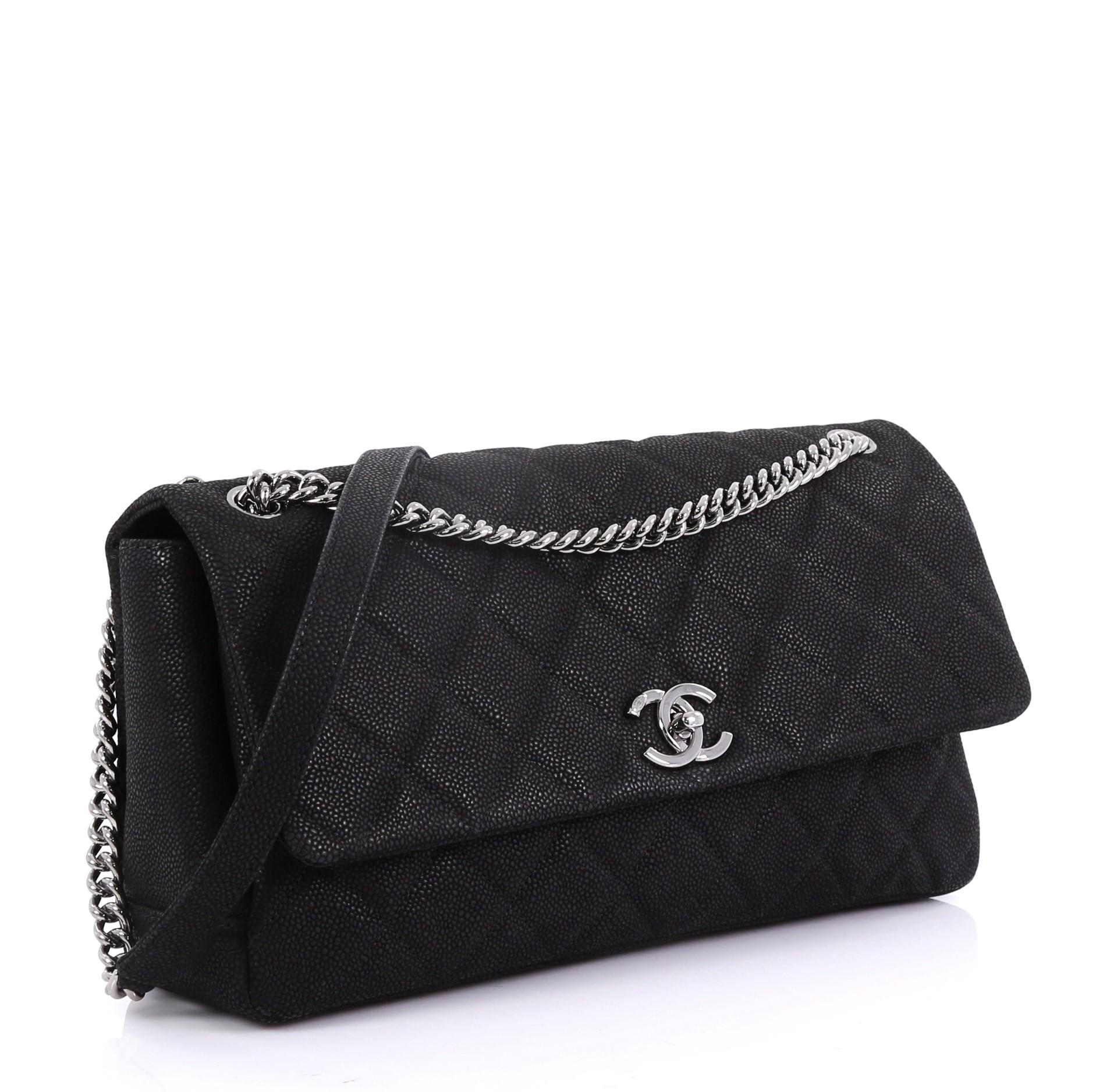 3b4e4c11e570cb Chanel Lady Pearly Flap Bag Quilted Matte Caviar Medium at 1stdibs