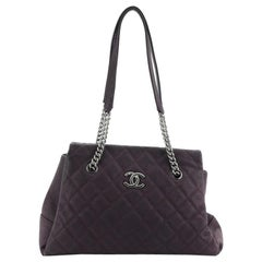 Chanel Lady Pearly Tote Quilted Iridescent Caviar Large