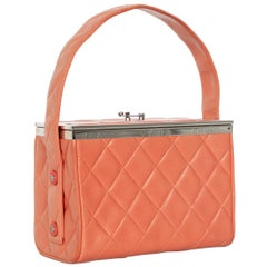 Chanel Lambskin Quilted Box Bag Orange, 1990s