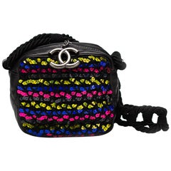 Chanel Lambskin Quilted Mini Sequin Rainbow Camera Crossbody Tote