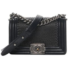 Chanel Lambskin Quilted Small Chain Mail Boy Bag