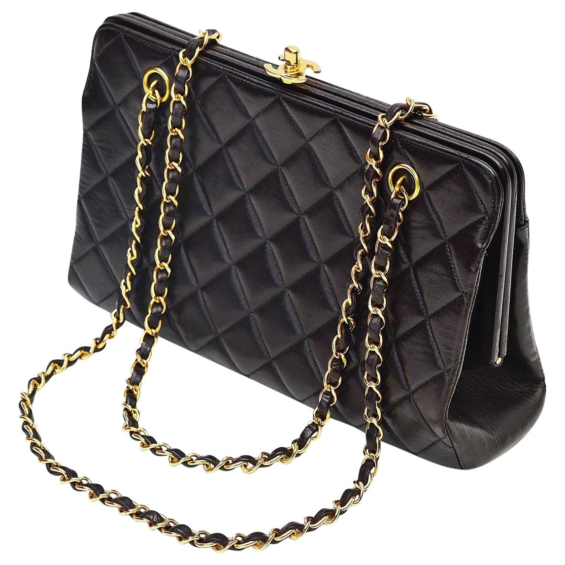 Chanel Lambskin Vintage Shoulder Bag CC top lock