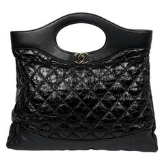 CHANEL Large 31 Crumpled Leather Tote Bag