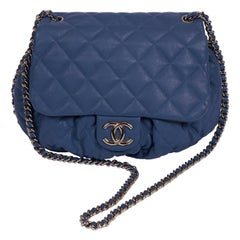 Chanel Large Blue Chain Around Handbag