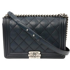 CHANEL Large Boy Quilted Leather Bag
