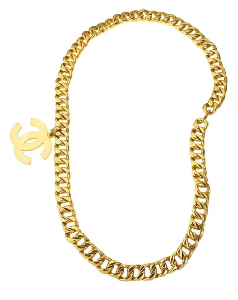 Women's Chanel Large CC Necklace / Belt For Sale