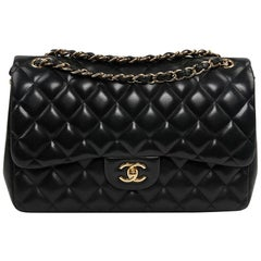 CHANEL Large Classic Quilted Lambskin Jumbo Bag