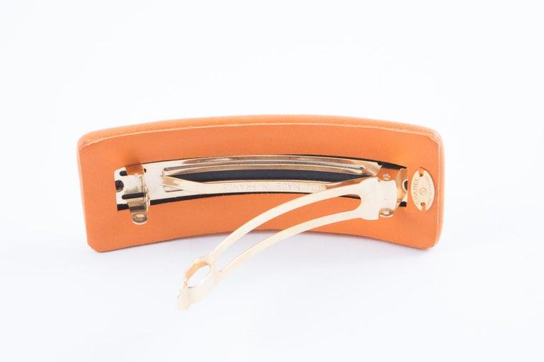 Women's Chanel Large Orange Lamb Hair Pin For Sale